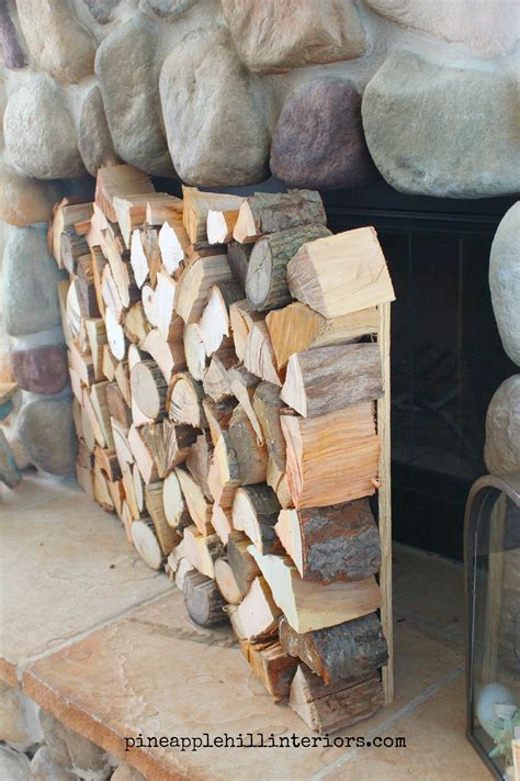 Fireplace Wood Logs by How To Make A Faux Stack Of Logs Pineapple Hill Interiors