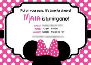 disney s minnie mouse themed first birthday invitation