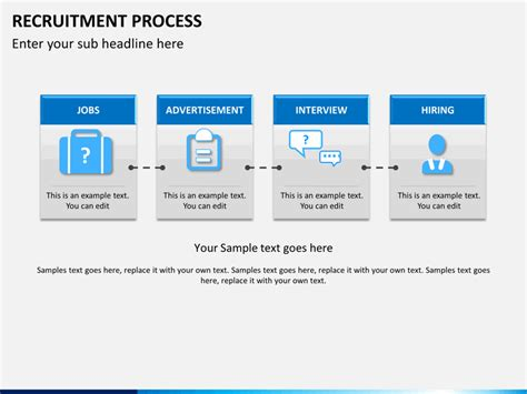 hiring process template recruitment process powerpoint template sketchbubble