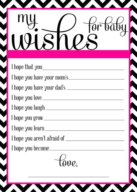 baby shower wish list template wishes for baby template sanjonmotel