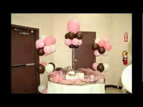 pink chocolate brown and white baby bottle balloon