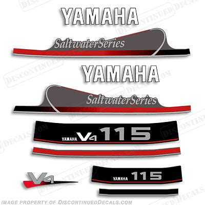 yamaha outboard motor decals for sale yamaha outboard motor decal kit 115 hp mid 90s saltwater