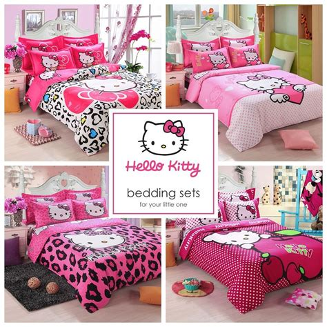 childrens comforter sets full size kids hello kitty bedding duvet quilt cover bedding set
