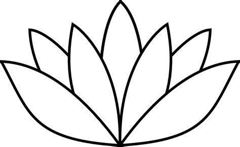 onlinelabels clip art white lotus flower