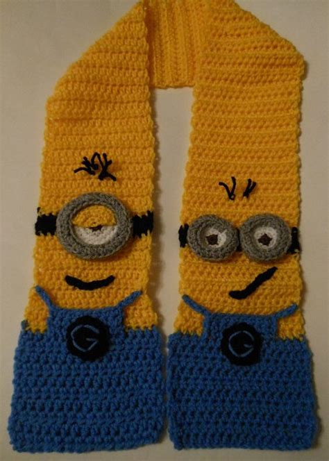 pattern crochet minion scarf crochet minions and crochet patterns on pinterest