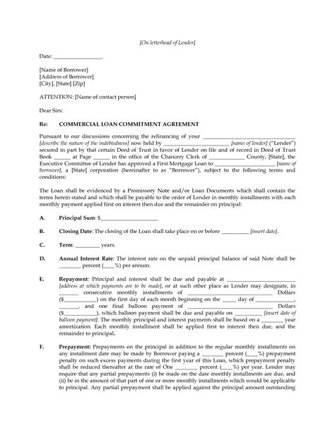 Commitment Letter Syndicated Loan Practice Writing Name Worksheet Fioradesignstudio
