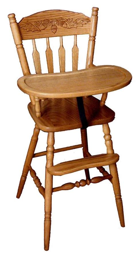 Standard Height For Kitchen Cabinets Amish Little Acorn Wooden High Chair