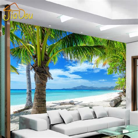 3d wallpaper bedroom living mural roll space abstract custom 3d mural mediterranean modern minimalist sea beach