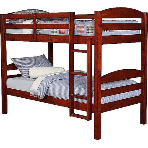 bunk beds walmart mainstays twin over twin wood bunk bed walmart com