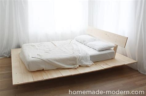 build your own platform bed homemade modern ep89 platform bed