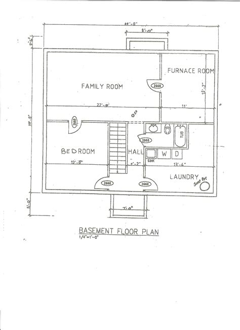 floor plan with basement basement floor plans ideas interior exterior doors