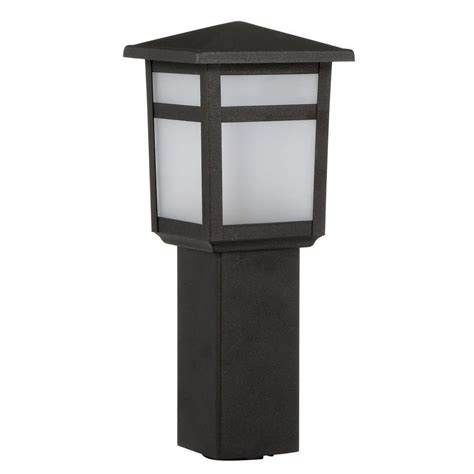low voltage l post hton bay low voltage 10 watt equivalent black outdoor
