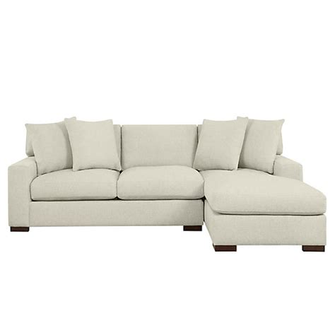 z gallerie sectional del mar sectional sofa chaise z gallerie
