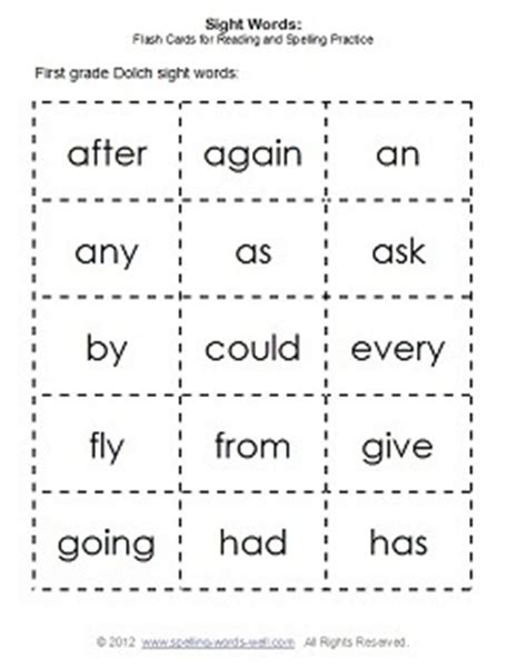 printable flash cards for first grade 5 best images of sight words flash cards free printable