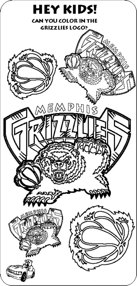 nba mascots coloring pages color the grizzlies logos the official site of the