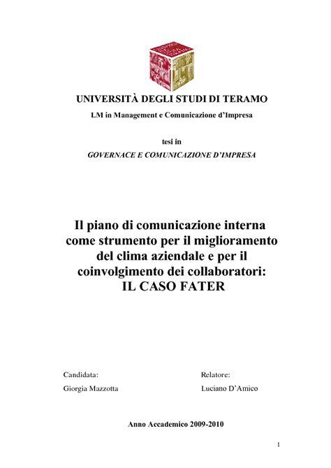 piano di comunicazione interna anteprima tesi laurea liv ii specialistica il piano