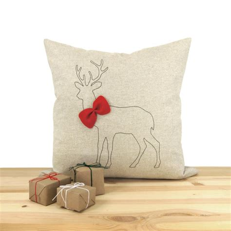 home decor red deer christmas decorative throw pillow case holiday home decor