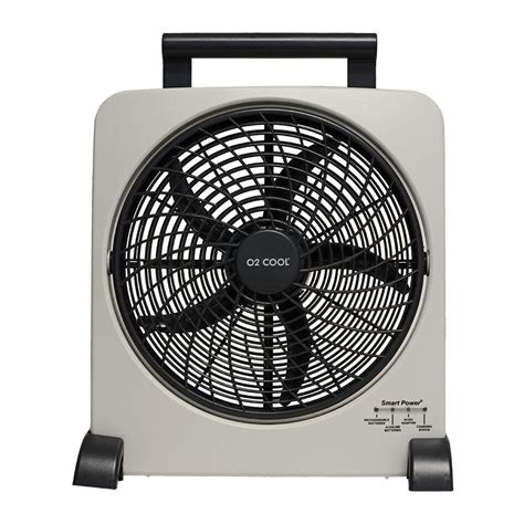 o2cool rechargeable 10 in fan with usb charging port