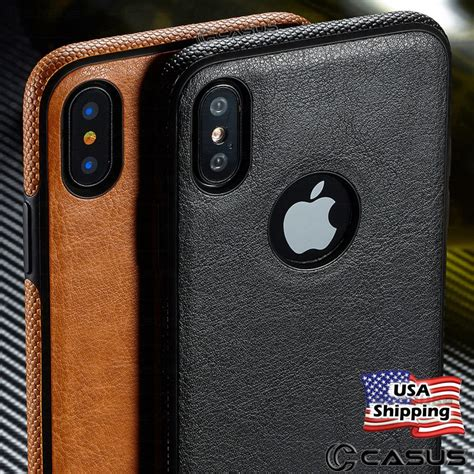 slim luxury leather back ultra thin tpu cover for iphone x