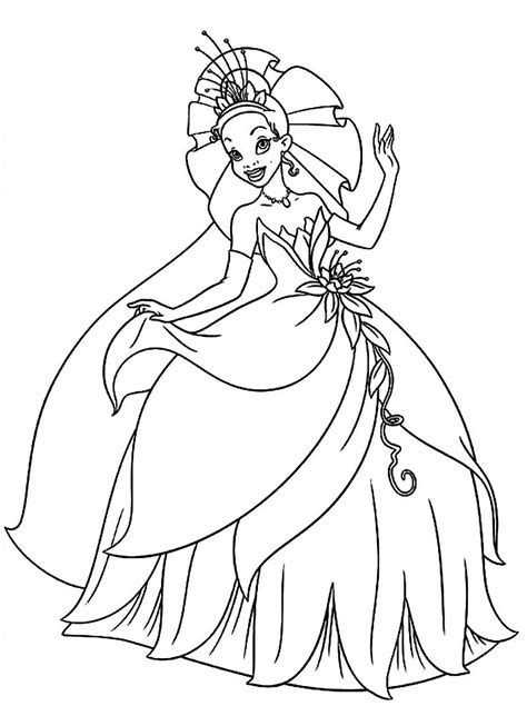 tiana coloring pages  getcoloringscom  printable