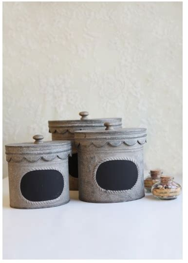 canister sets for kitchen 8 best images about tin chalkboard canister set on