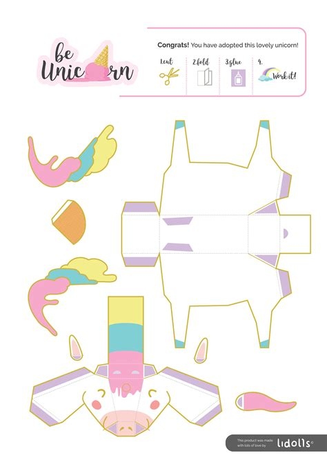 Unicorn Papercraft - diy unicorn papercraft printable diy