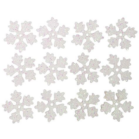 3 5 quot foam white glitter snowflake ornaments 12 fx15610