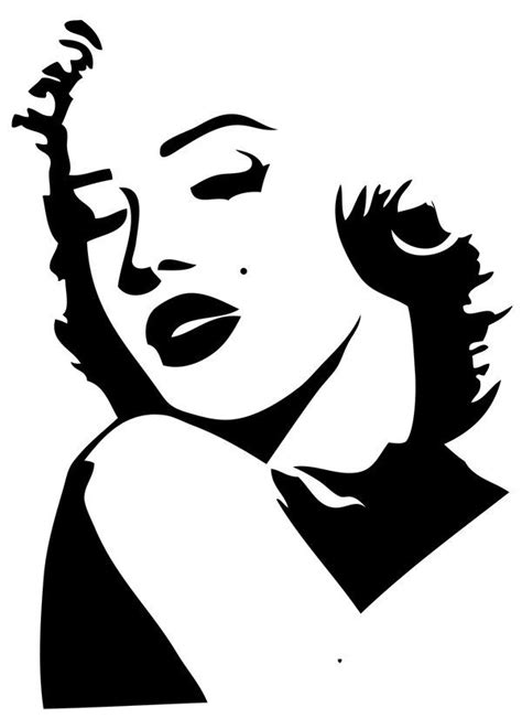 haircut designs stencils 25 best ideas about marilyn monroe stencil on pinterest