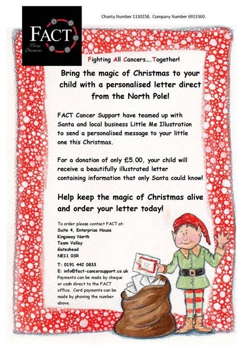 personalised letter from santa charity personalised letters from santa gateshead local