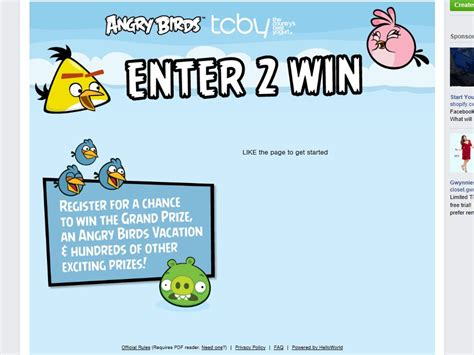 Tcby Gift Card - tcby angry birds summer showdown sweepstakes