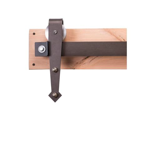 Sliding Barn Door Hardware Home Depot Rustica Hardware 84 In Steel Sliding Barn Door Hardware Kit With Arrow Hangers And