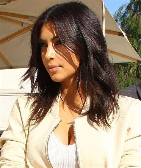 long bob hairstyles kim kardashian kim kardashian cute mid length hairstyles styles time