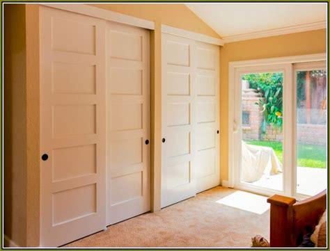 bypass closet doors for bedrooms sliding bypass closet doors clean organized closets