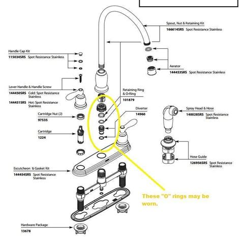 Moen Kitchen Faucet Parts Diagram Faucets Replacement Parts Moreover Moen Faucet Motor