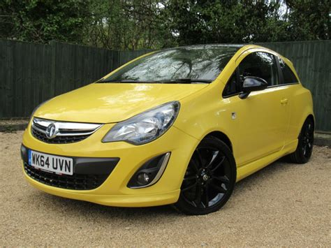 vauxhall yellow used yellow vauxhall corsa for sale dorset