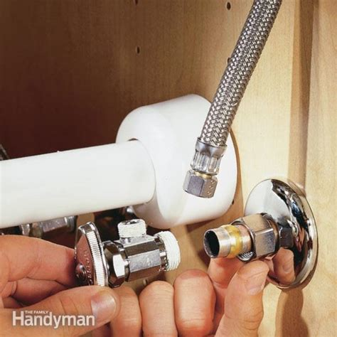 bathroom sink shut off valve how to replace a shutoff valve the family handyman