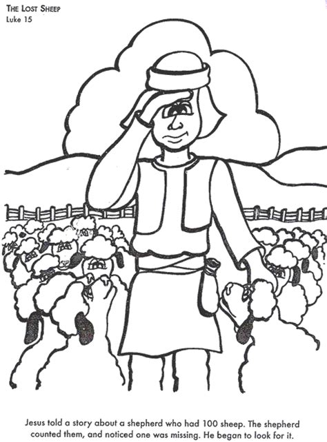 free bible coloring pages lost sheep beaufitul message in the parable for children r e