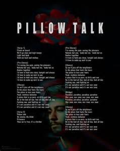 pillowtalk lyrics