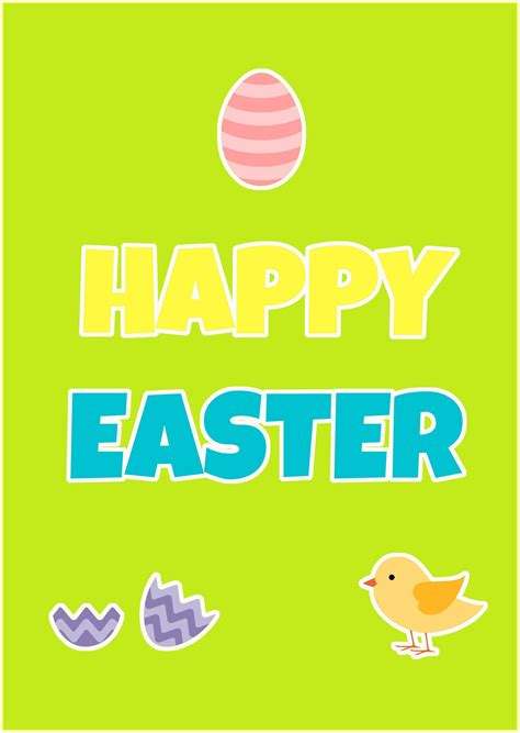 printable happy easter poster happy easter everyone things we do blog