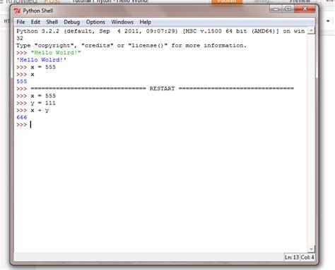 tutorial python bahasa indonesia tutorial bahasa pemrograman python untuk pemula hello