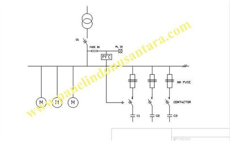 wiring diagram panel capacitor bank k