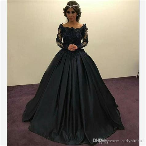 Longdress Diana Back 2018 graceful black princess evening dresses sleeves