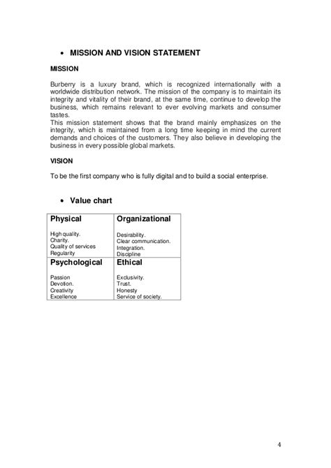 Mission Statement Burberry Essays mission statement burberry essays thedrudgereort566 web fc2