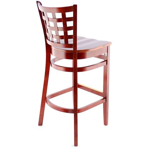 Wood Bar Stool With Back Wooden Stool With Back Simple Bar Stools With Backs For Modern Bar Room Decoration Wooden