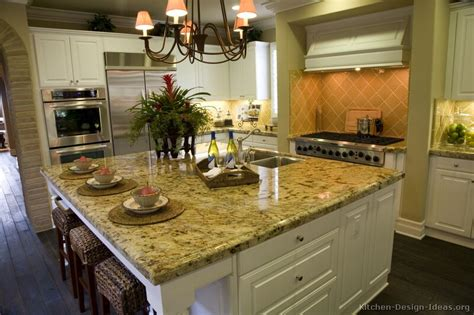 Kitchen Cabinet Island Design Ideas Pictures Of Kitchens Traditional White Kitchen Cabinets