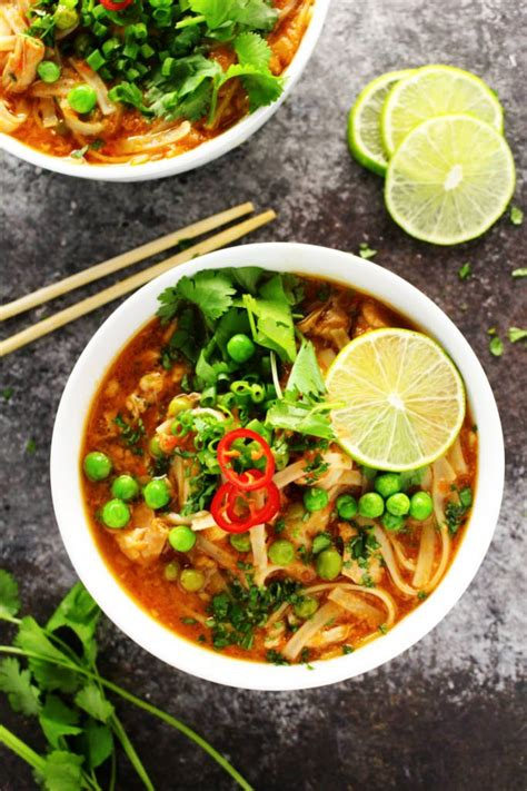come home to your favorite soup of the day and hearty soup bisque and chowder recipes books easy cooker thai chicken noodle soup platings