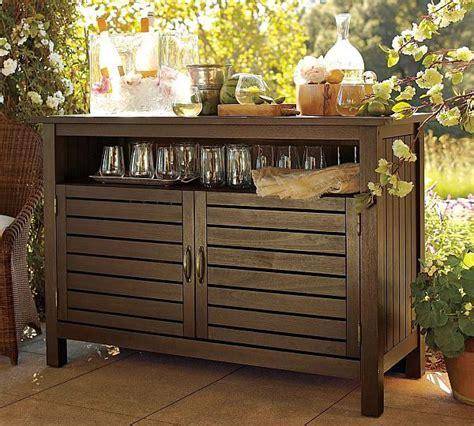 outdoor buffet cabinet eucalyptus buffet for relaxing outdoors buffet open shelves and front doors