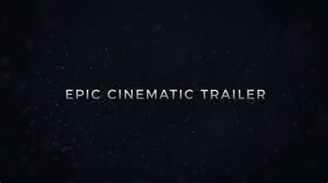 after effects trailer template epic cinematic trailer after effects templates free