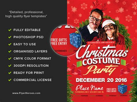 costume flyer templates costume flyer template flyerheroes