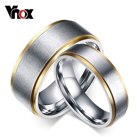 1piece rings for stainless steel wedding bands
